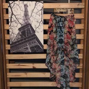 High low XS floral skirt